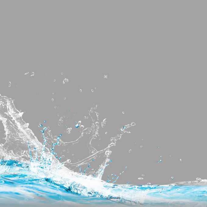 飞溅起水花的蓝色水面效果8646062矢量图片免抠素材免费下载
