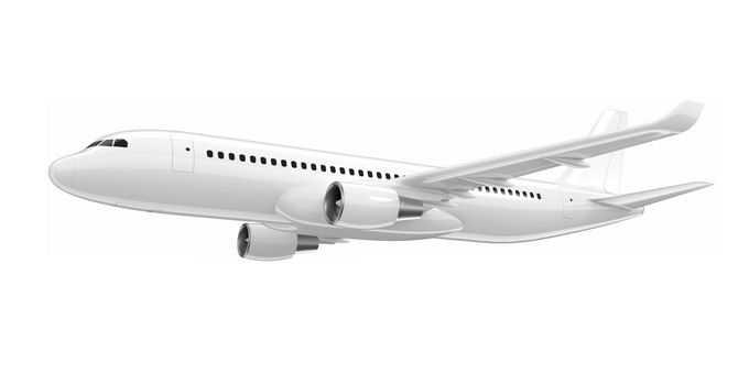 一架白色的大型客机飞机5901649矢量图片免抠素材免费下载