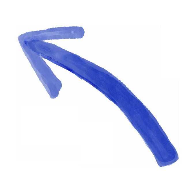 蓝色向上方向箭头水彩插画8914133矢量图片免抠素材免费下载
