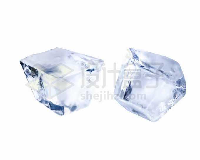 2块冰块碎冰5855780矢量图片免抠素材免费下载