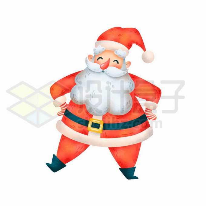 叉腰的卡通圣诞老人4906782矢量图片免抠素材免费下载