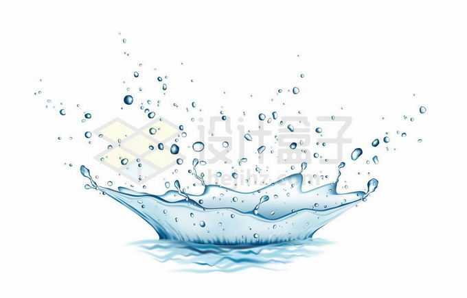 飞溅的蓝色水花效果2753338矢量图片免抠素材免费下载
