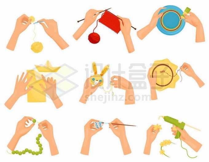 9款针毛衣折纸船刺绣做玩具等休闲工作4625378矢量图片免抠素材免费下载