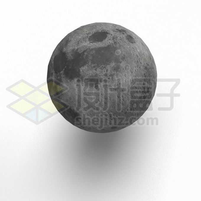 逼真的3D立体月球9725702PSD免抠图片素材