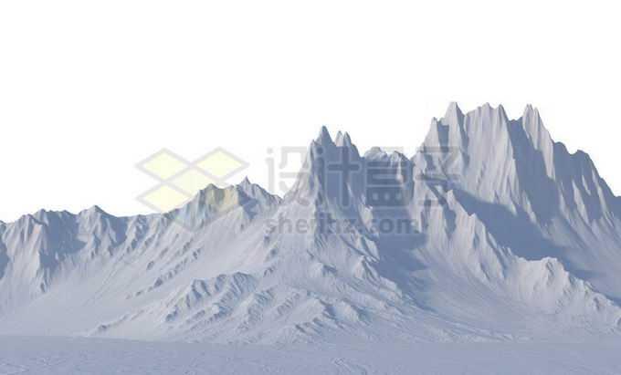 高耸入云的雪山大山脉高山冰川8281346PSD免抠图片素材