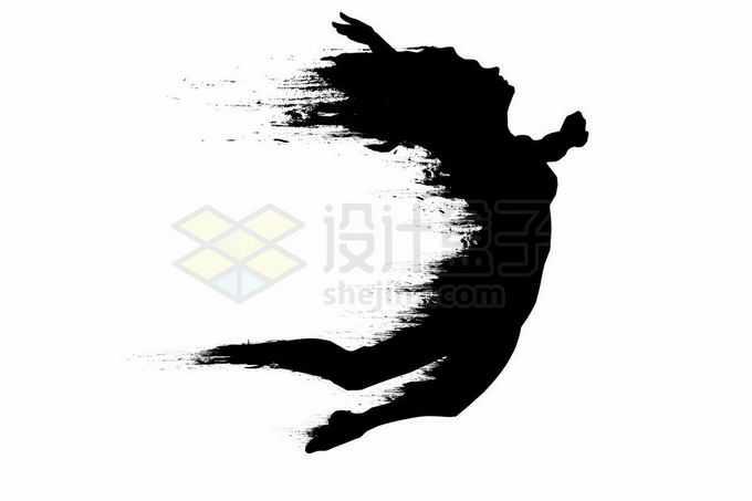 抽象动感风格跳跃起来的女人运动员剪影2434711矢量图片免抠素材免费下载