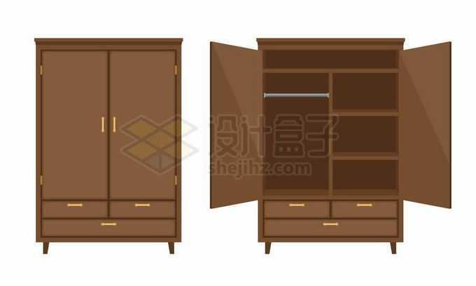 关闭和打开的衣柜家具5921604矢量图片免抠素材免费下载