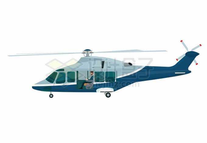 一架商务直升机飞机侧视图1223548矢量图片免抠素材免费下载