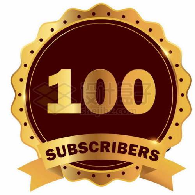 金色100周年纪念日徽章标志图标2243130矢量图片免抠素材免费下载