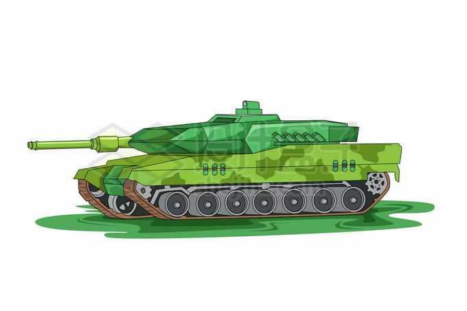 一辆绿色涂装的现代化坦克6325580矢量图片免抠素材免费下载