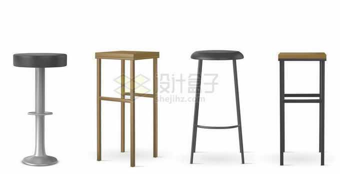 4款高脚凳升降凳吧台凳家具6244572矢量图片素材免费下载