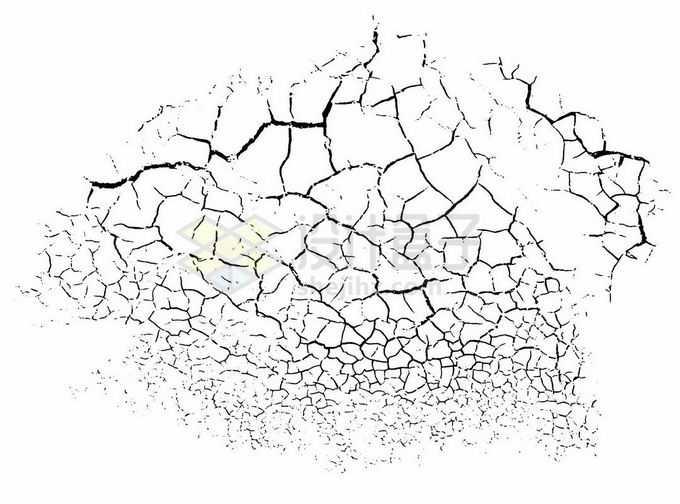 黑色龟裂干裂效果2749010矢量图片素材免费下载