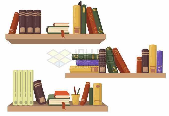 书架上的图书书籍8714518矢量图片素材免费下载