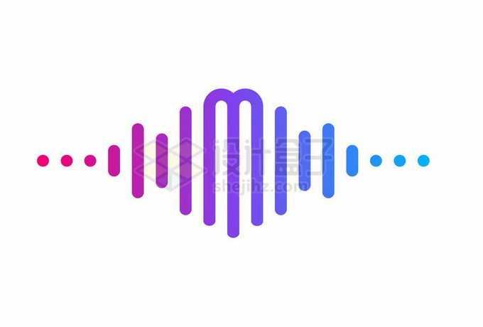 创意渐变色风格音频音乐类logo设计方案4243633矢量图片素材免费下载