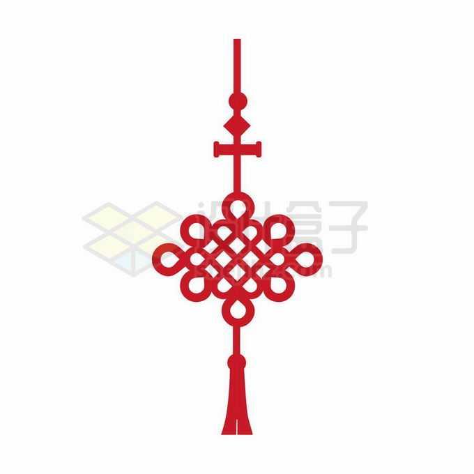 一款红色的中国结图案2510141矢量图片免抠素材免费下载