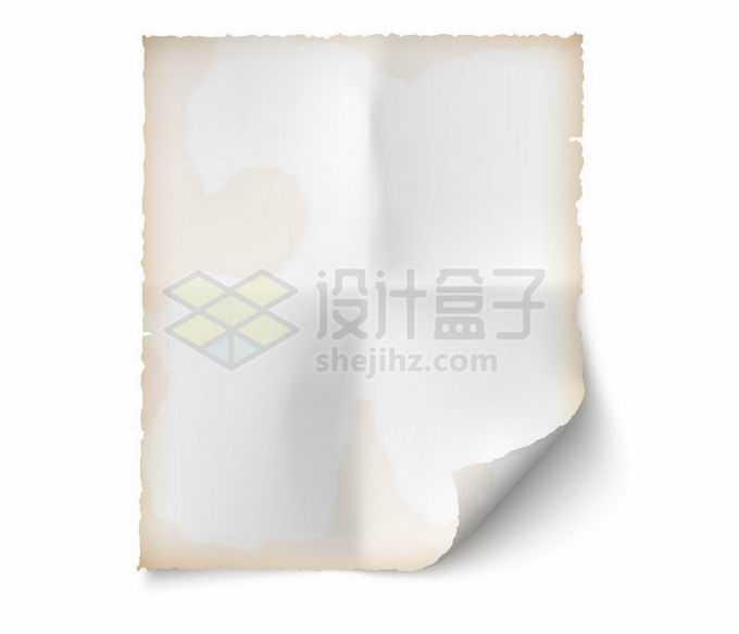 一张皱巴巴旧纸张白纸4880232矢量图片免抠素材免费下载