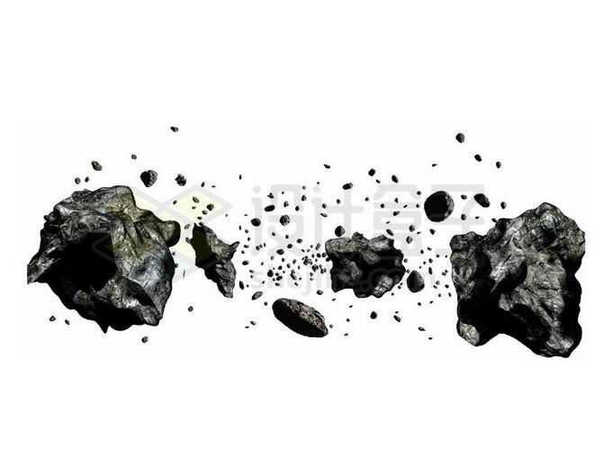 小行星带上密集的小行星和石块4861352png免抠图片素材