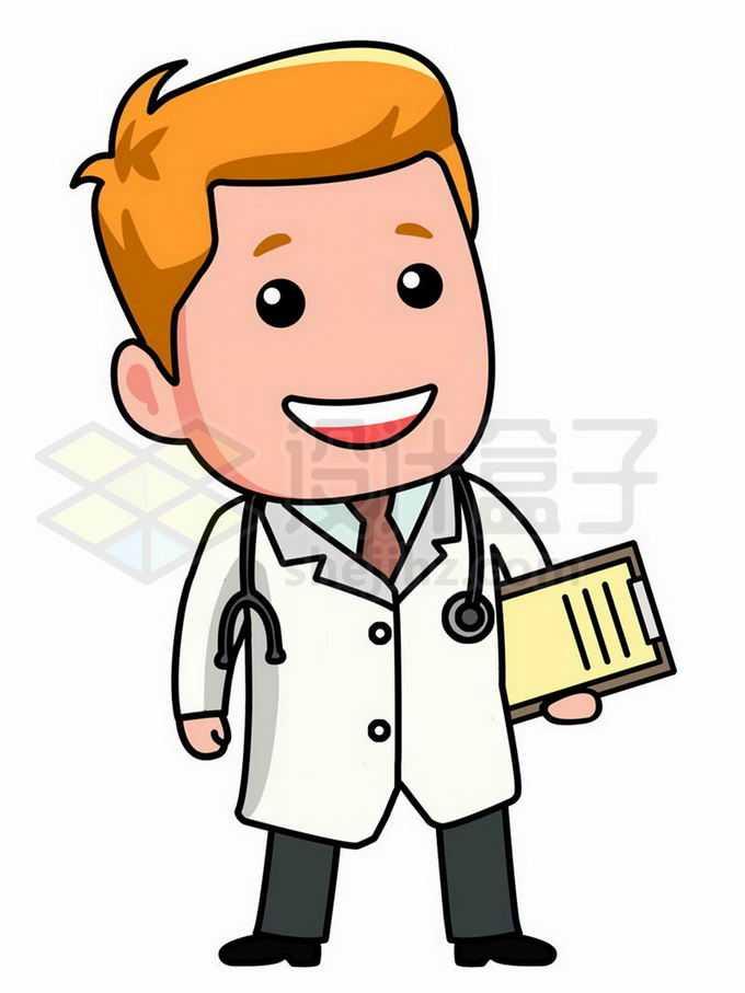 卡通医生正在微笑5127029png免抠图片素材