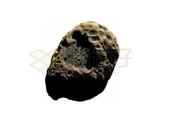 一颗满目疮痍布满陨石坑的小行星6733329png免抠图片素材