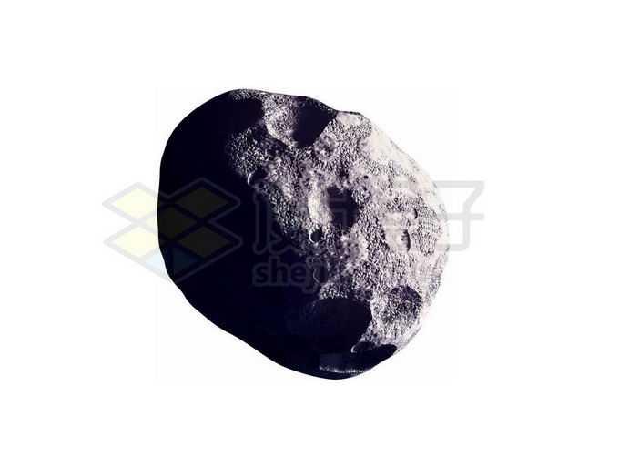 一颗不规则圆形的太阳系小行星2599232png免抠图片素材