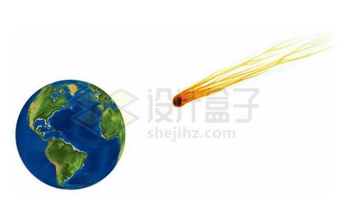 飞向地球的小行星陨石2327535png免抠图片素材
