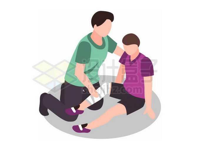 骨折急救方法插画5865572png免抠图片素材