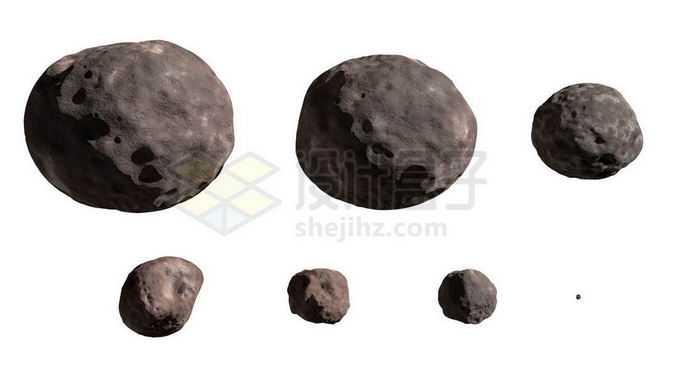 各种大小的小行星6457183png免抠图片素材