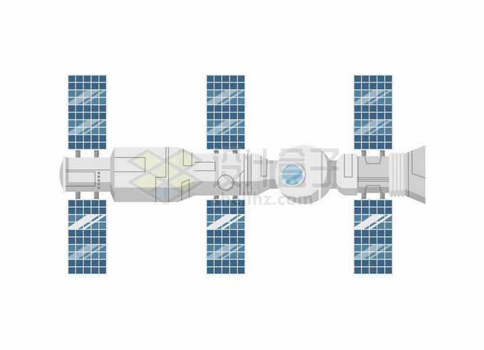 天和号核心舱和神舟飞船组合体中国空间站天宫号空间站9931400矢量图片免抠素材免费下载