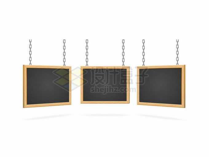 3款铁链挂着的黑板木框6176373矢量图片免抠素材免费下载
