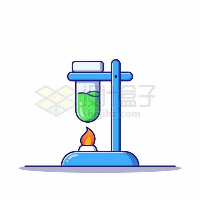 MBE风格酒精灯和试管化学实验仪器1918576矢量图片免抠素材免费下载
