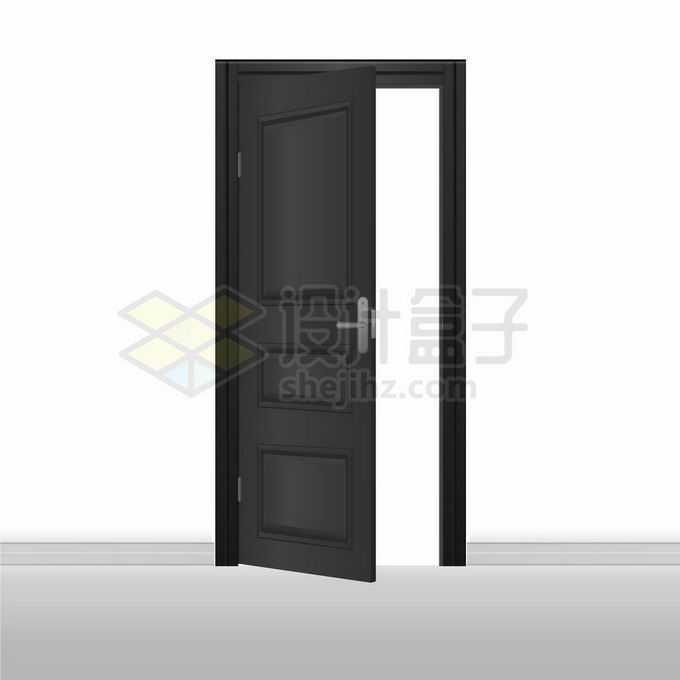 打开的黑色房门大门木门8681575矢量图片免抠素材免费下载