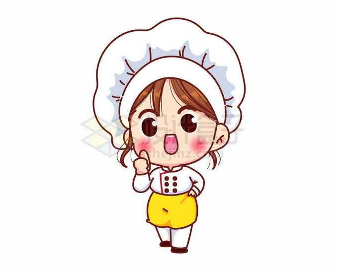 超可爱的卡通美女厨师9187866矢量图片免抠素材免费下载