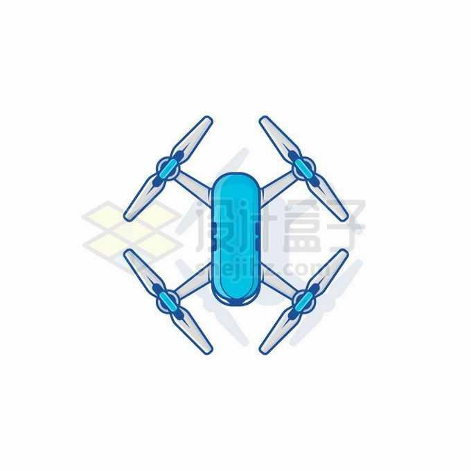 一款蓝色的大疆四轴无人机8533946矢量图片免抠素材免费下载