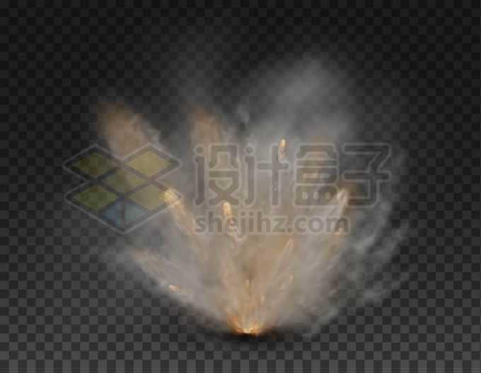 逼真的烟雾冒烟爆炸效果3751801矢量图片免抠素材免费下载