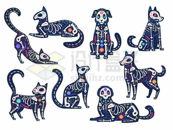各种抽象埃及猫咪狗狗图腾图案7569392矢量图片免抠素材免费下载
