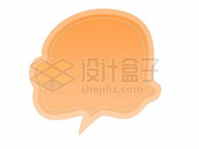 橙色渐变色云朵风格卡通文本框信息框标题框对话框1219778矢量图片免抠素材免费下载