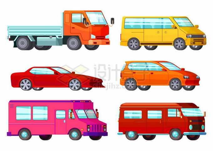 散货卡车黄色面包车轿车SUV房车等汽车2016329矢量图片免抠素材免费下载