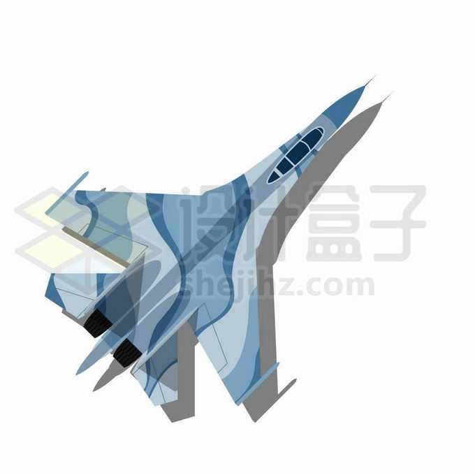 歼16歼-11BS战斗机俯视图8978601矢量图片免抠素材免费下载