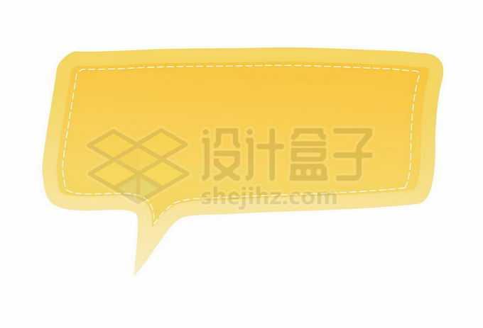 黄色渐变色风格卡通文本框信息框标题框对话框4287477矢量图片免抠素材免费下载