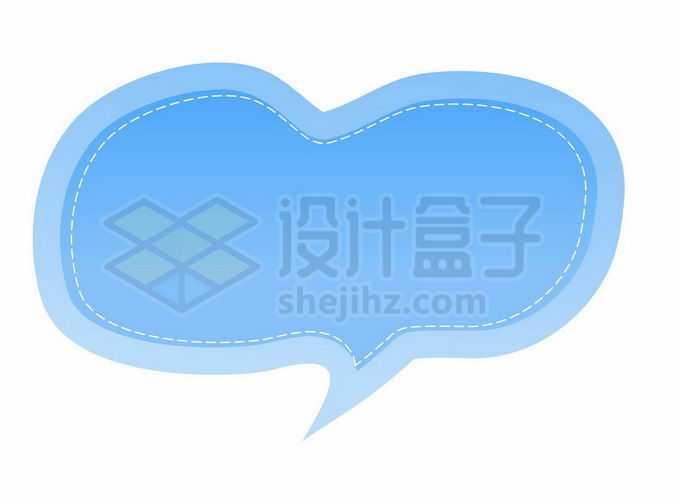 蓝色渐变色风格卡通文本框信息框标题框对话框6420457矢量图片免抠素材免费下载