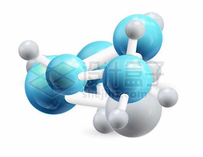 3D立体彩色小球风格大分子模型8568290矢量图片免抠素材免费下载