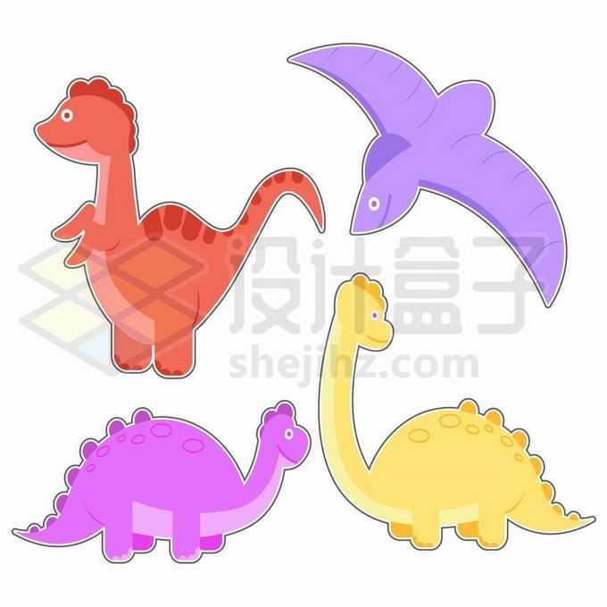 4款卡通恐龙儿童插画1016293矢量图片免抠素材免费下载