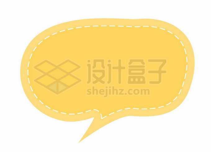 黄色渐变色风格卡通文本框信息框标题框对话框5954272矢量图片免抠素材免费下载