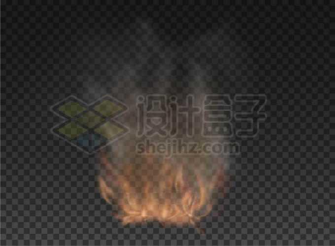 逼真的烟雾冒烟火焰冒火效果6971990矢量图片免抠素材免费下载