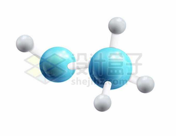 3D立体蓝色银色小球风格分子模型2274604矢量图片免抠素材免费下载