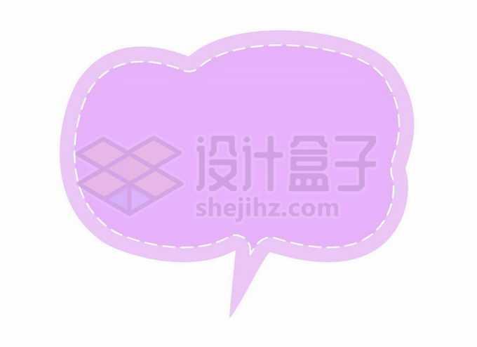紫色云朵风格卡通文本框信息框标题框对话框6944188矢量图片免抠素材免费下载