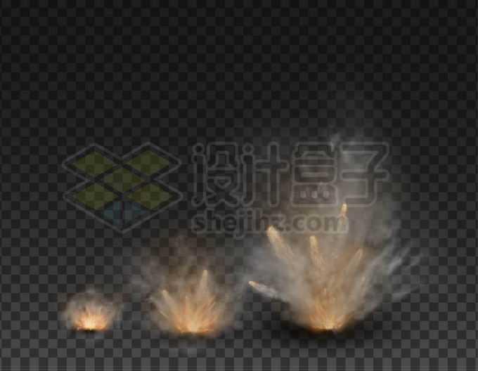 逼真的烟雾冒烟爆炸过程效果8972338矢量图片免抠素材免费下载