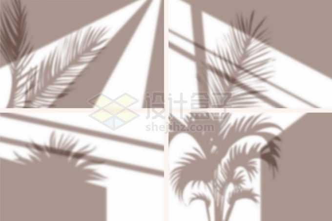 4款阳光月光照射下的窗户影子树叶影子滤镜5810891矢量图片免抠素材免费下载