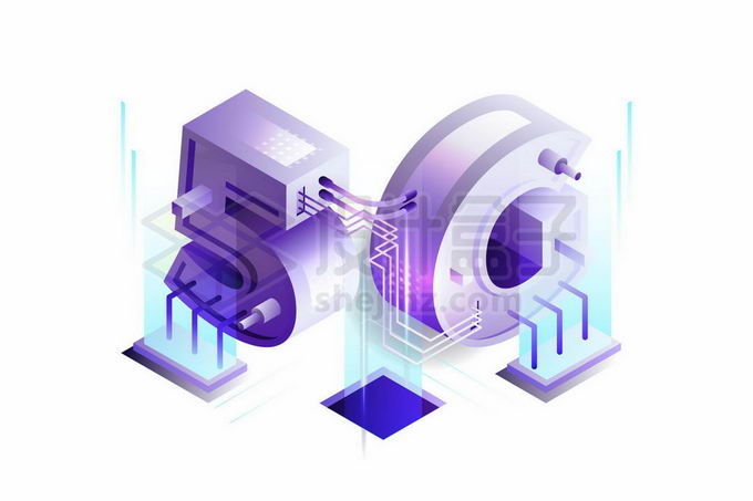 紫色发光的科技风格5G技术插图1713158矢量图片免抠素材免费下载