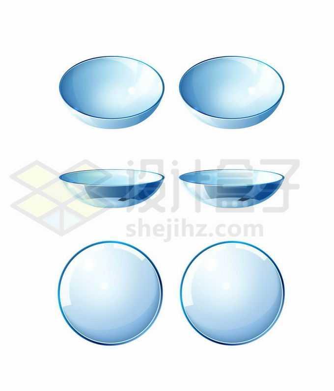 不同视角的蓝色隐形眼镜1679067矢量图片免抠素材免费下载